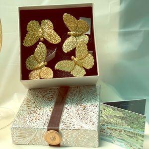 Juliska Butterfly Sparkle Gold  Napkin Rings